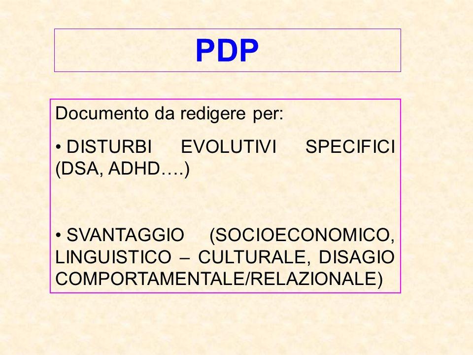 PDP Documento da redigere per: