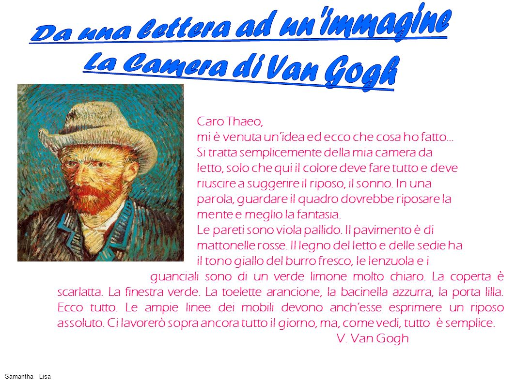 Con i grandi pittori claude monet eduard munch gustav klimt ppt video online scaricare - La camera da letto van gogh ...
