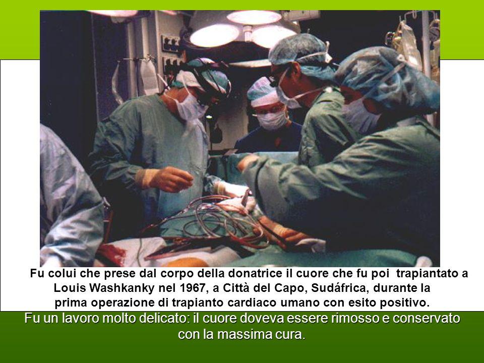 prima operazione di trapianto cardiaco umano con esito positivo.
