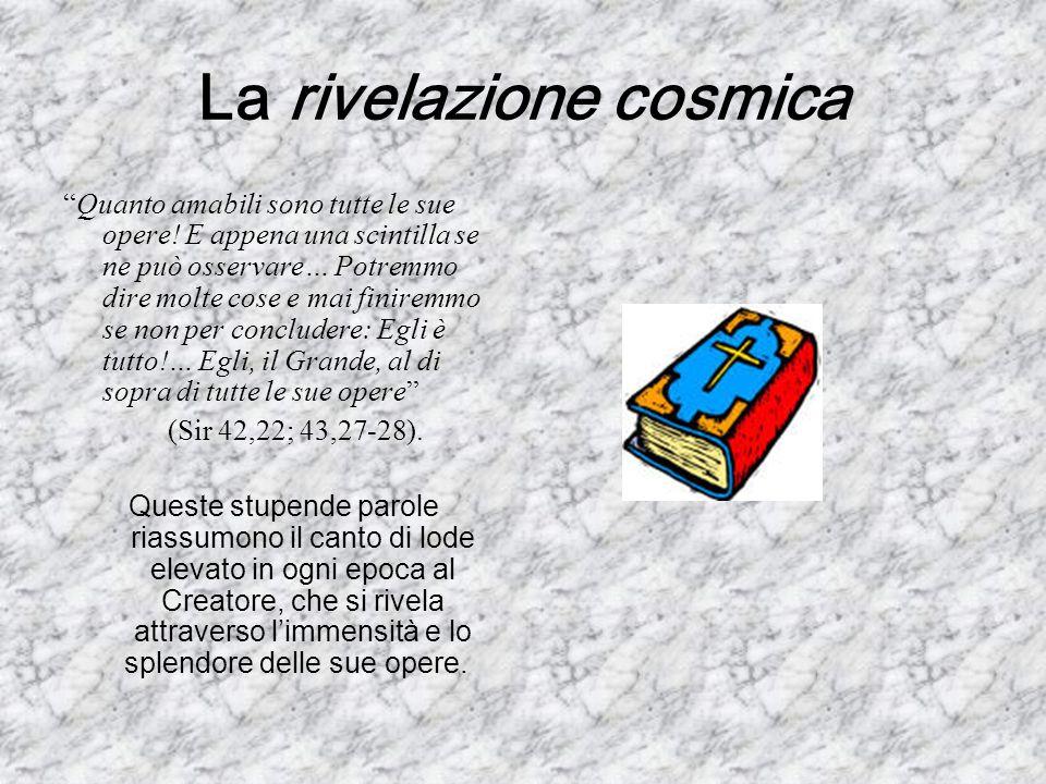 La rivelazione cosmica