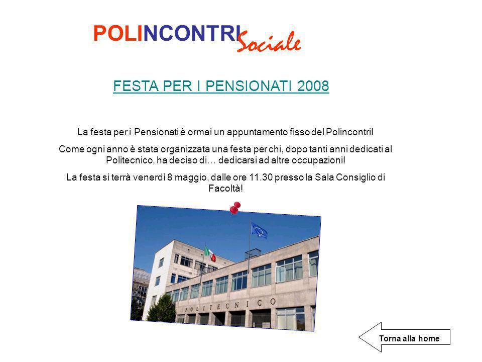 Sociale POLINCONTRI FESTA PER I PENSIONATI 2008