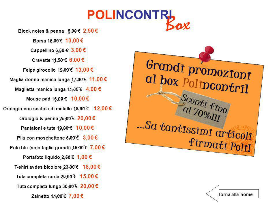 Box POLINCONTRI Block notes & penna 5,00 € 2,50 €