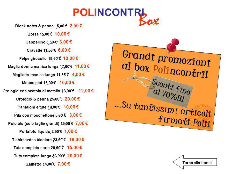 Box POLINCONTRI Block notes & penna 5,00 € 2,50 €
