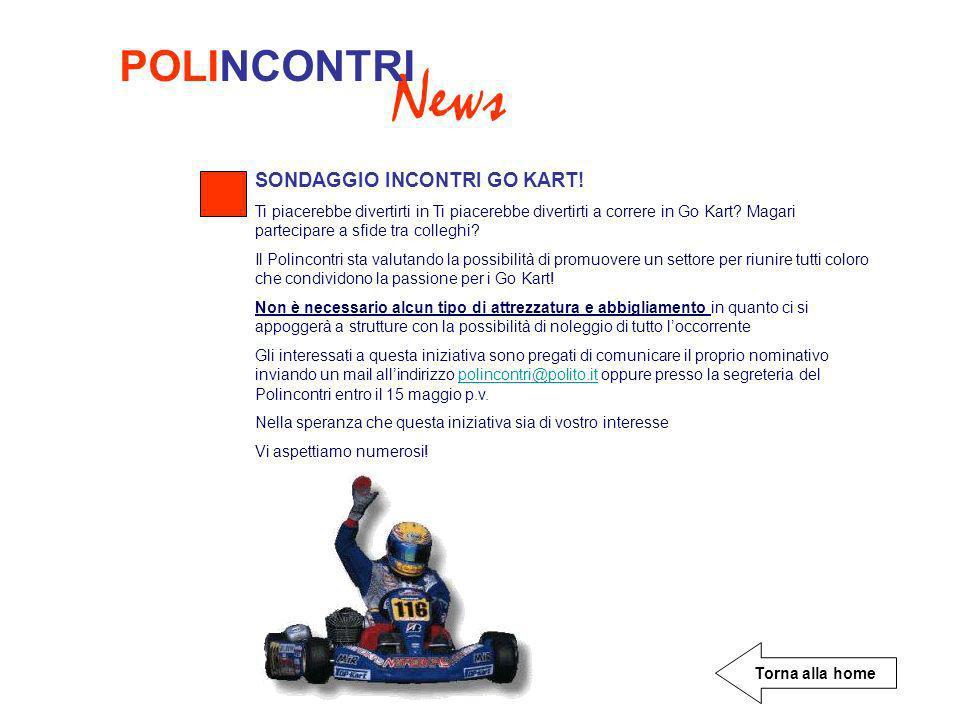 News POLINCONTRI SONDAGGIO INCONTRI GO KART!