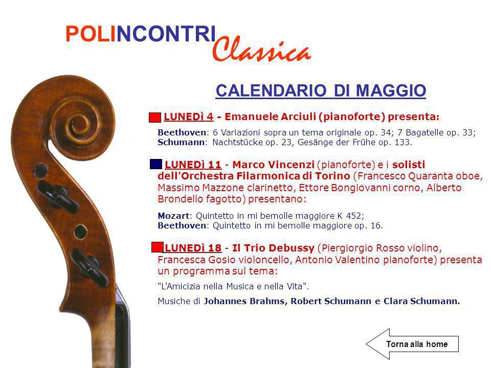 Classica POLINCONTRI CALENDARIO DI MAGGIO
