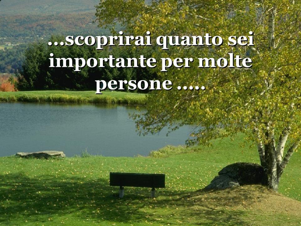 ...scoprirai quanto sei importante per molte persone .....