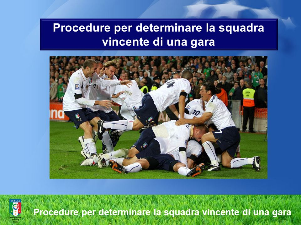 Procedure per determinare la squadra vincente di una gara