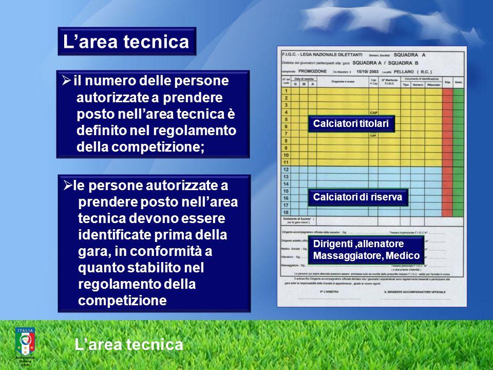 L'area tecnica L'area tecnica il numero delle persone