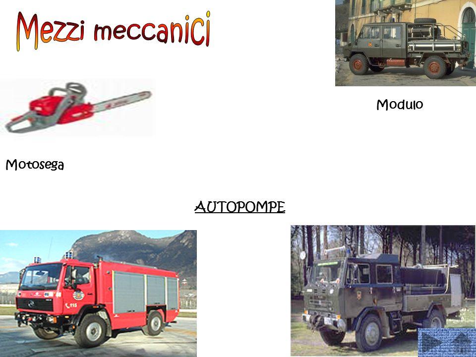 Mezzi meccanici Modulo Motosega AUTOPOMPE