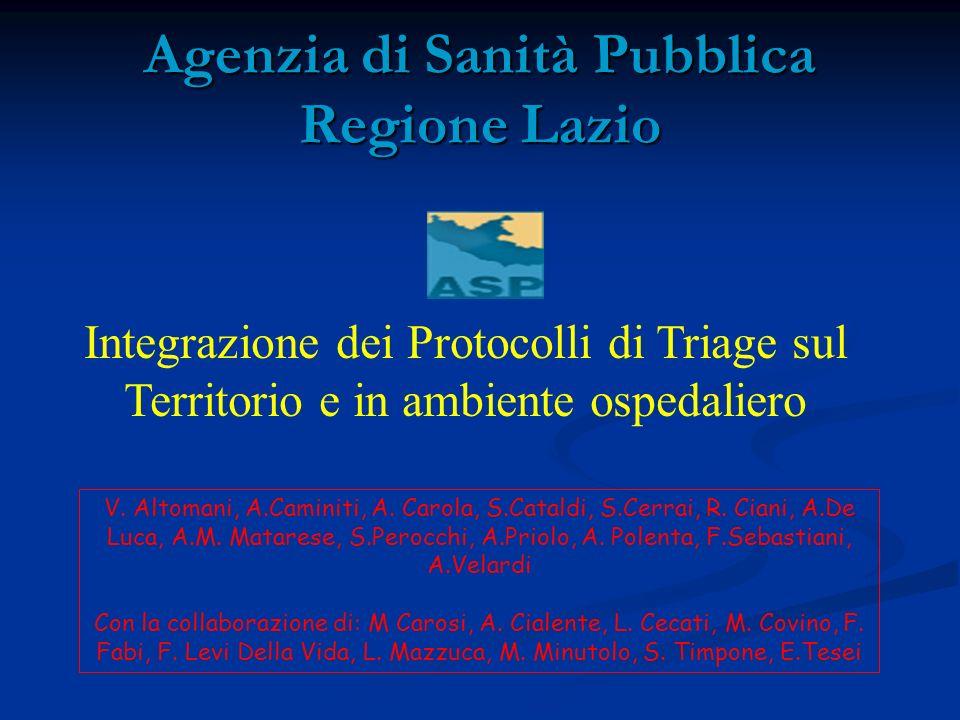 Agenzia di Sanità Pubblica Regione Lazio