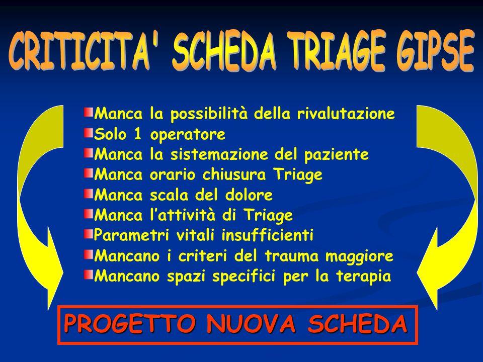 CRITICITA SCHEDA TRIAGE GIPSE