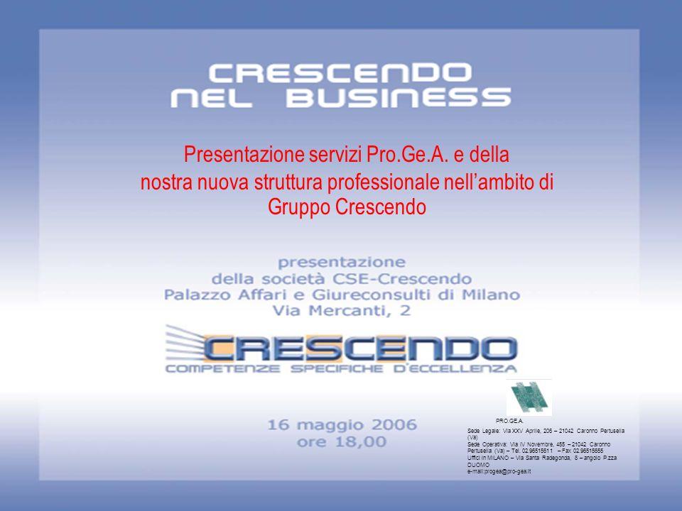 Presentazione servizi Pro.Ge.A. e della