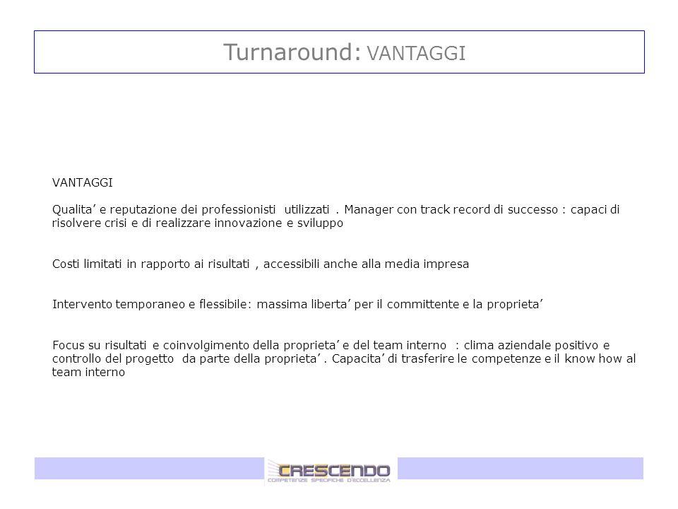 Turnaround: VANTAGGI