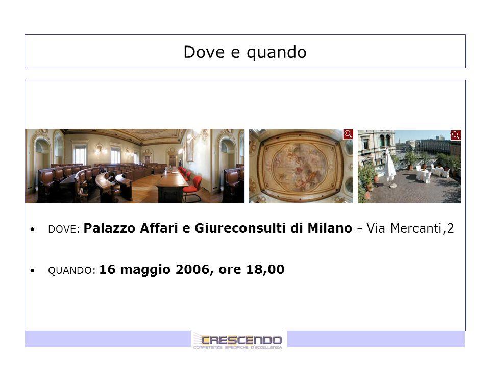 Dove e quando DOVE: Palazzo Affari e Giureconsulti di Milano - Via Mercanti,2.