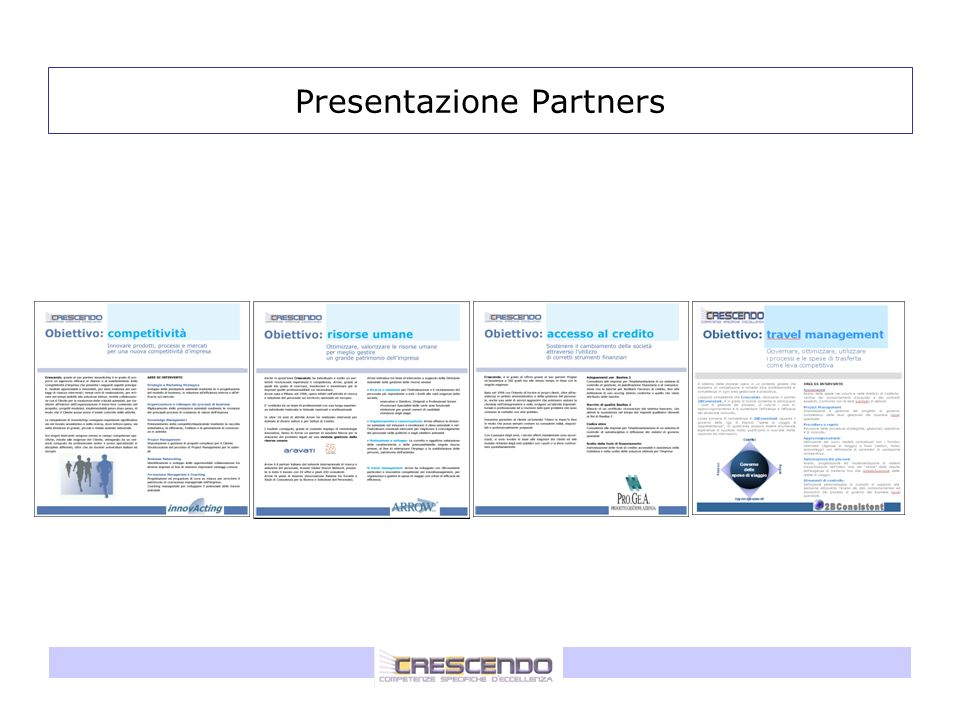 Presentazione Partners