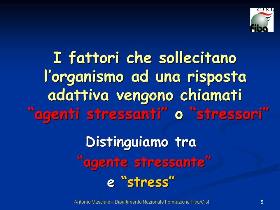 Distinguiamo tra agente stressante e stress