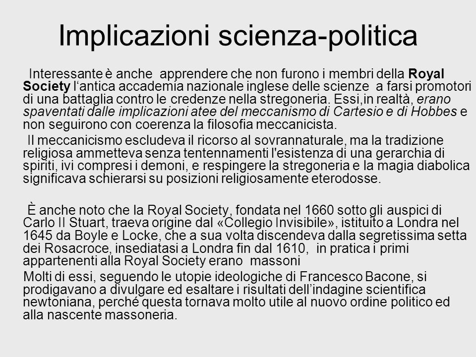 Implicazioni scienza-politica