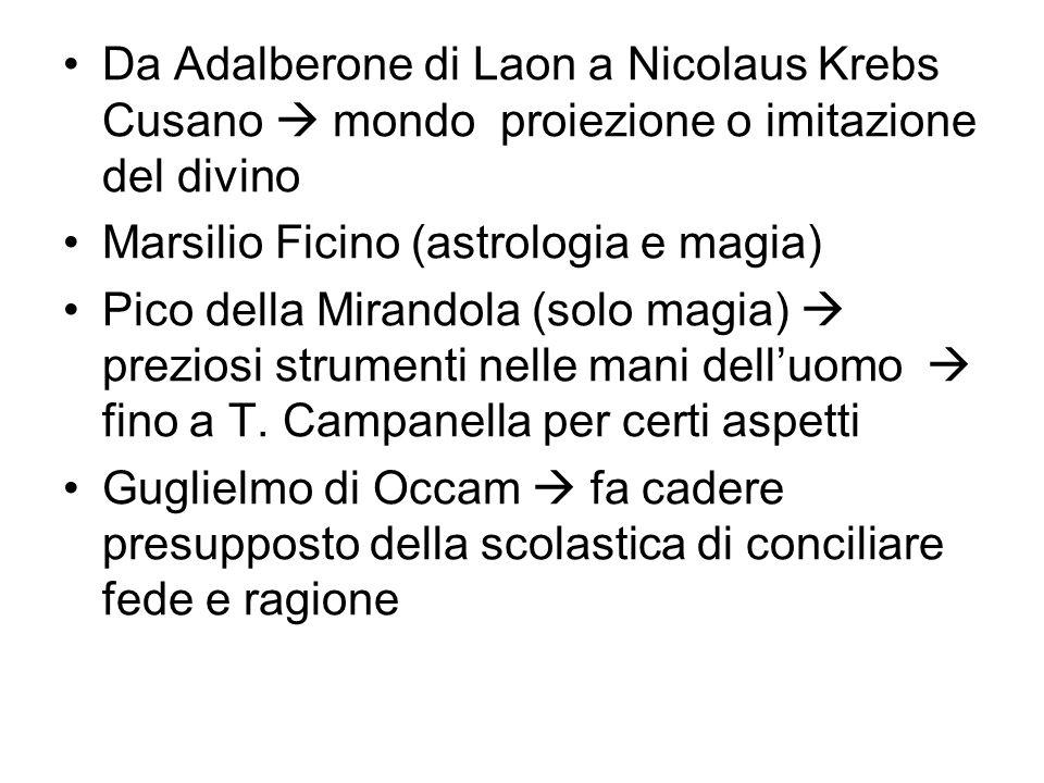 Da Adalberone di Laon a Nicolaus Krebs Cusano  mondo proiezione o imitazione del divino