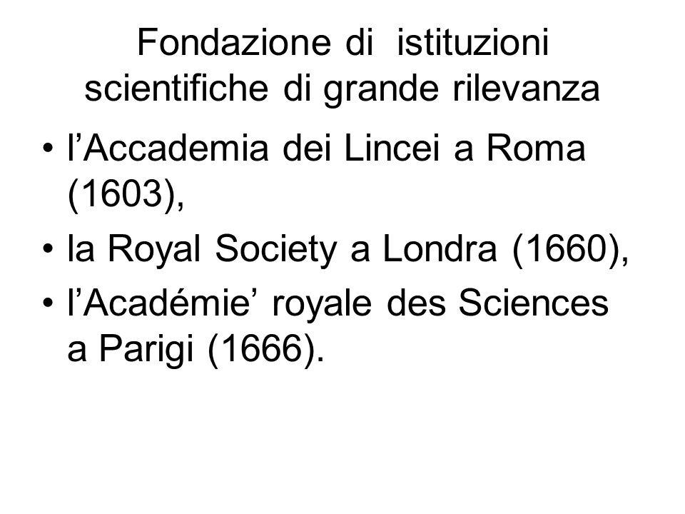 Fondazione di istituzioni scientifiche di grande rilevanza