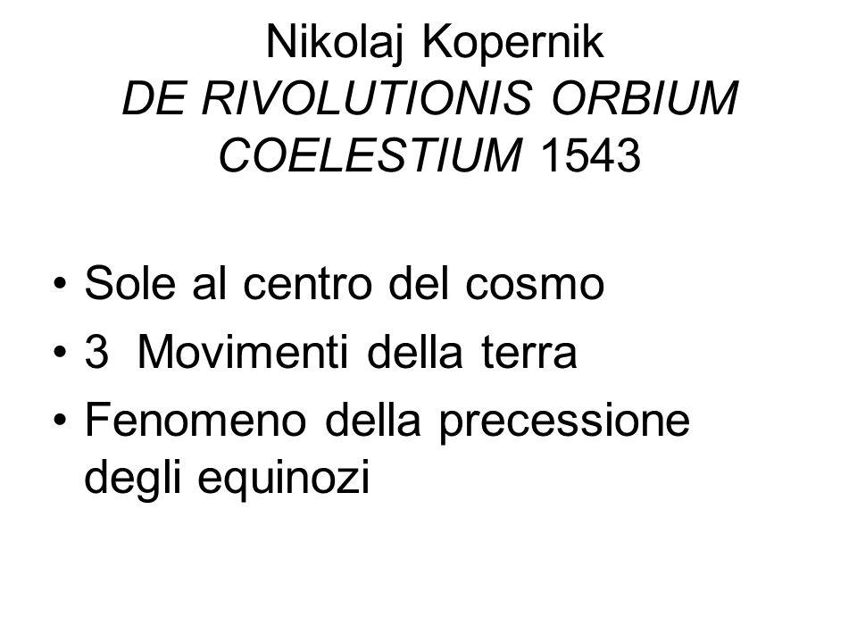 Nikolaj Kopernik DE RIVOLUTIONIS ORBIUM COELESTIUM 1543