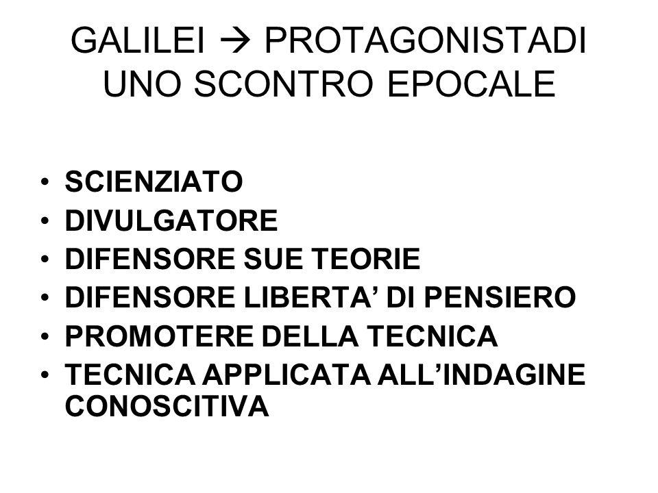 GALILEI  PROTAGONISTADI UNO SCONTRO EPOCALE