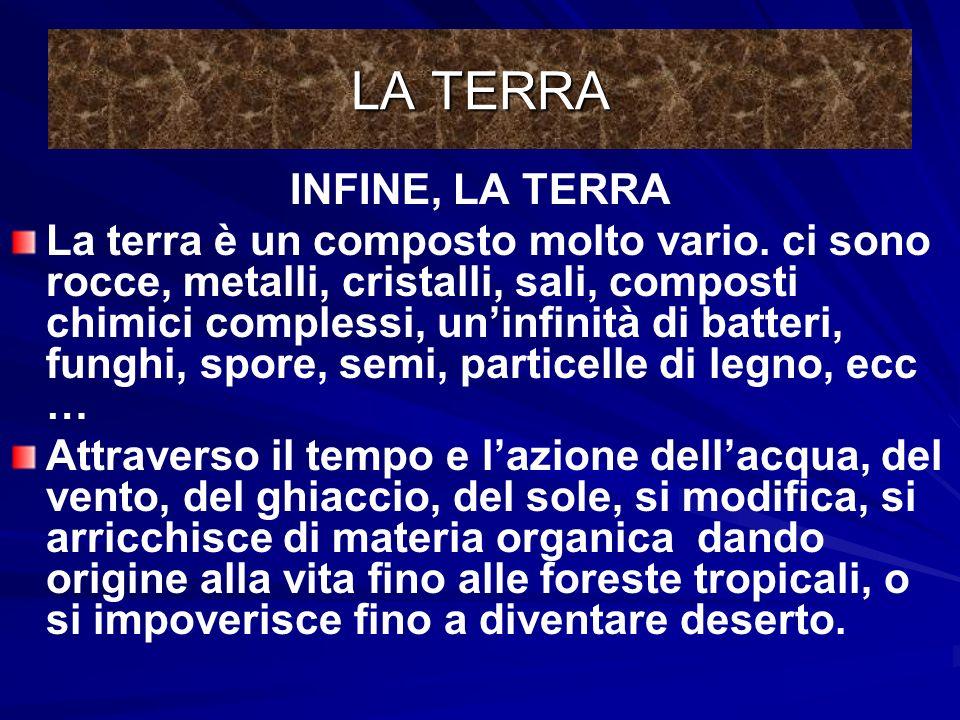 LA TERRA INFINE, LA TERRA