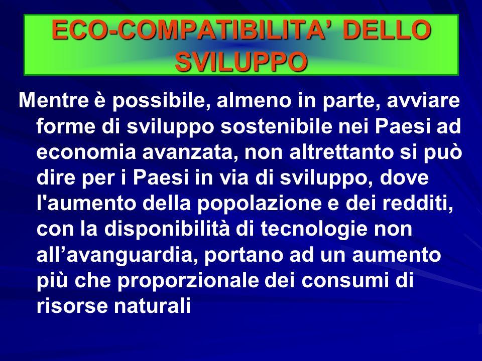 ECO-COMPATIBILITA' DELLO SVILUPPO