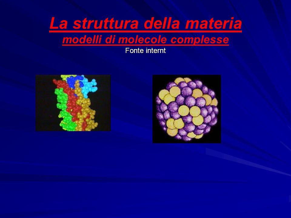 La struttura della materia modelli di molecole complesse Fonte internt
