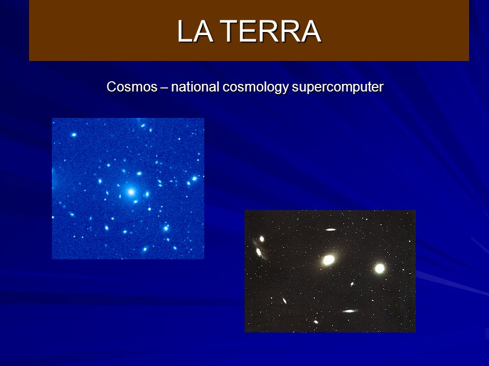 Cosmos – national cosmology supercomputer