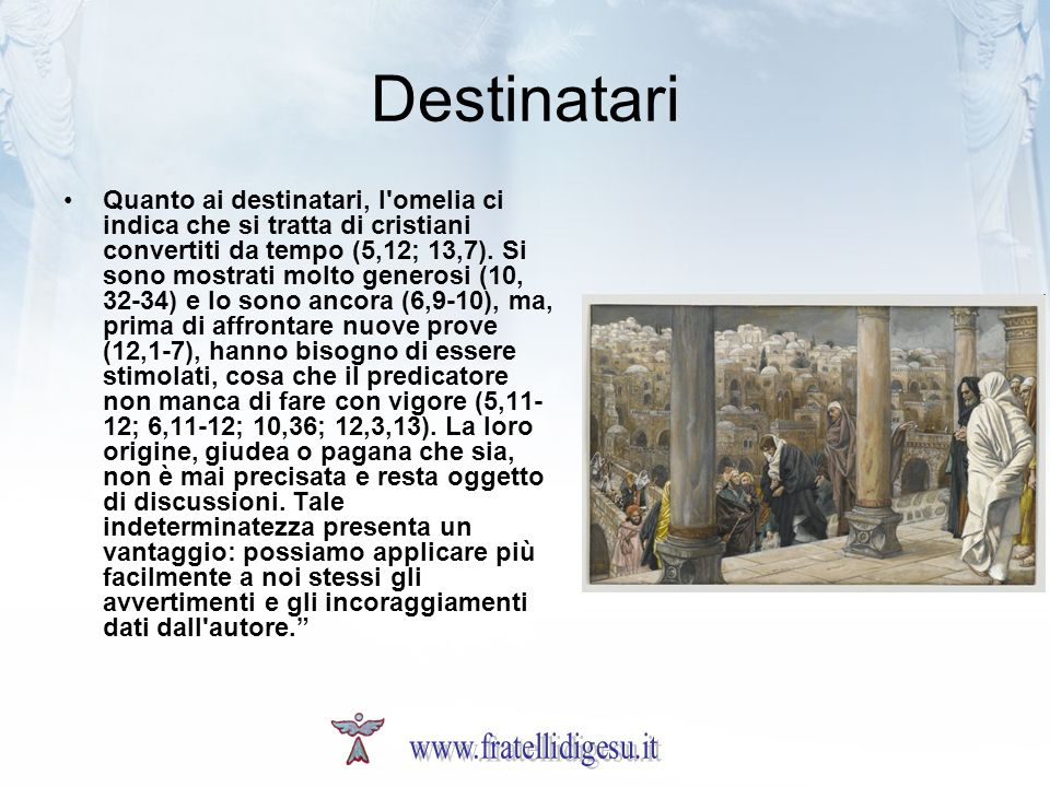 Destinatari www.fratellidigesu.it