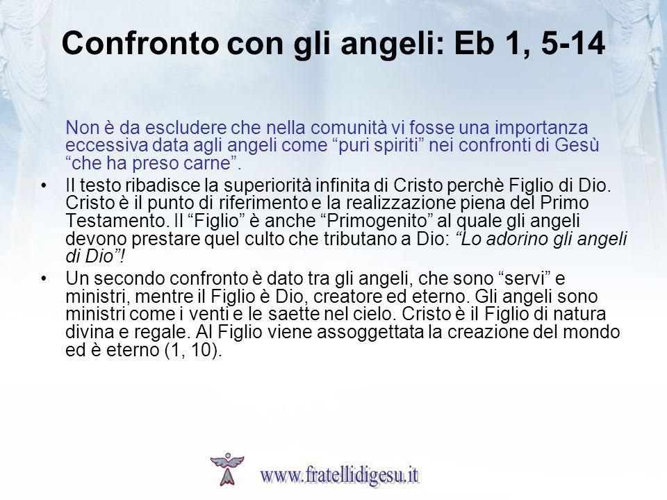 Confronto con gli angeli: Eb 1, 5-14
