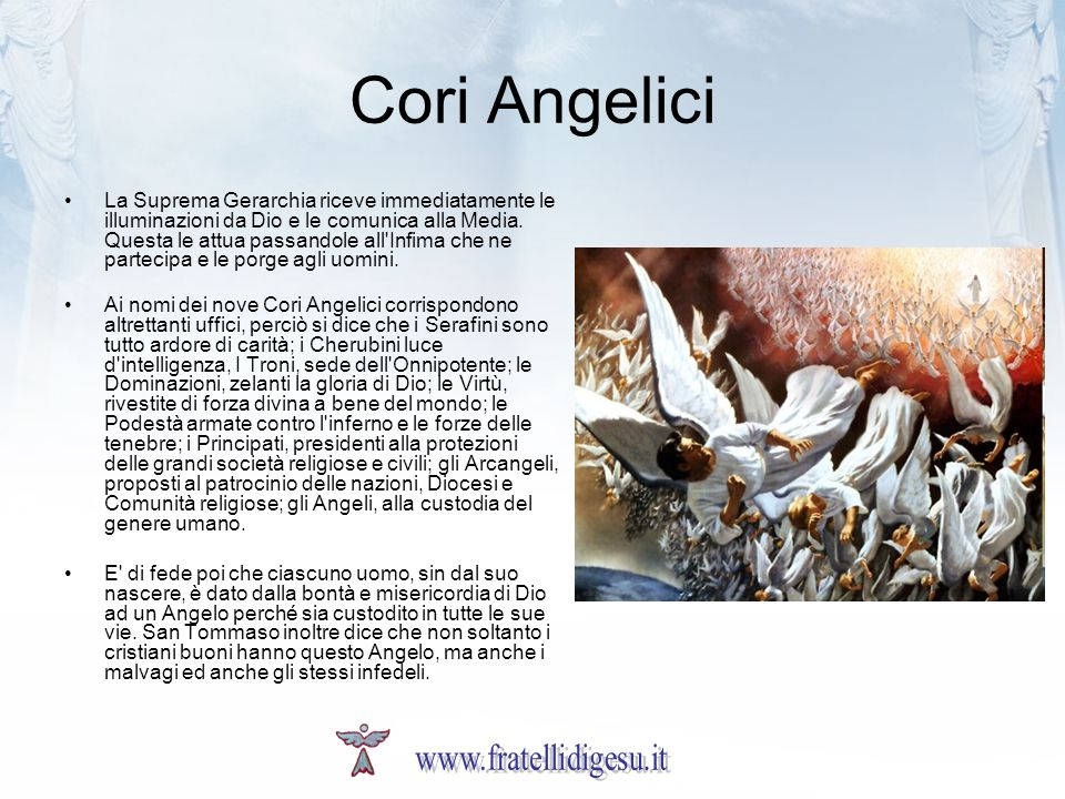 Cori Angelici www.fratellidigesu.it