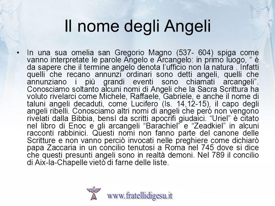 Il nome degli Angeli