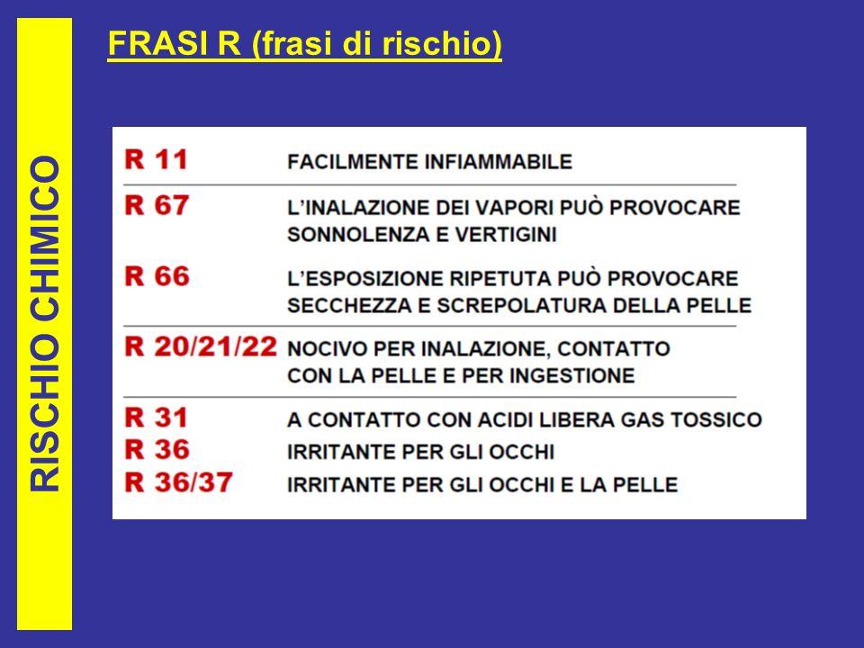 FRASI R (frasi di rischio)