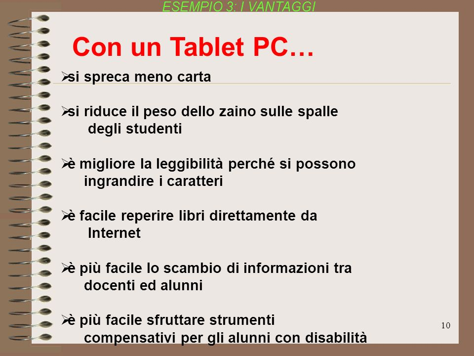 Con un Tablet PC… si spreca meno carta