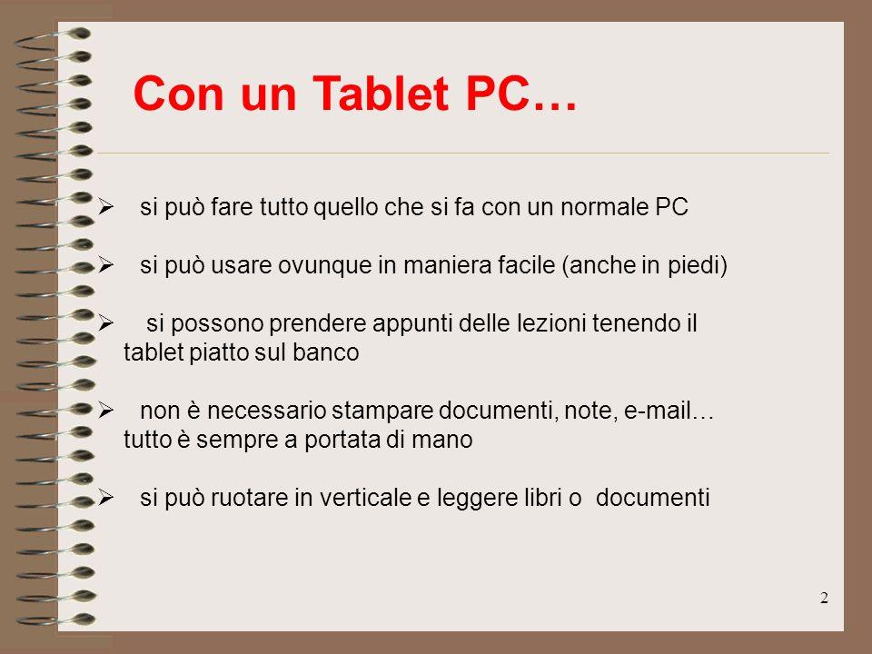 Con un Tablet PC… si può fare tutto quello che si fa con un normale PC