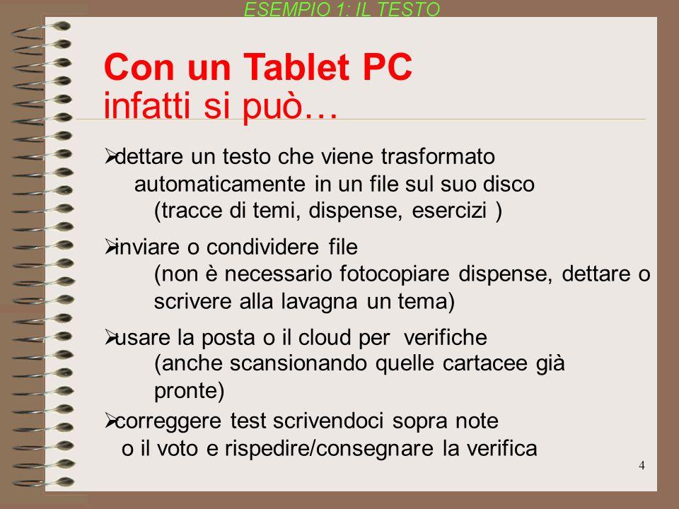 Con un Tablet PC infatti si può…
