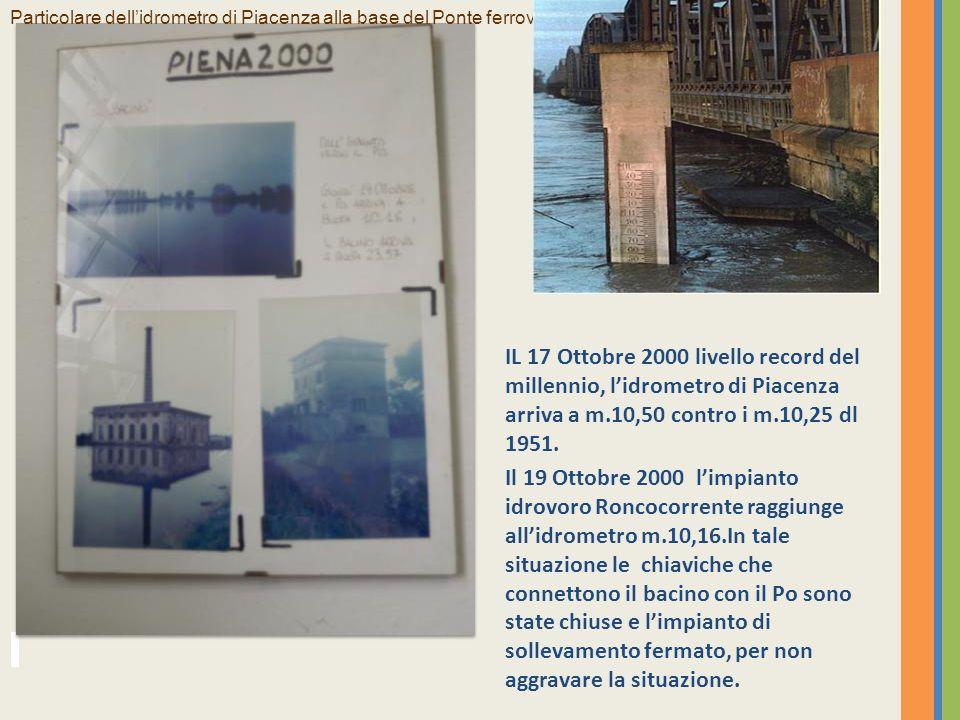17 ottobre 2000 Livello record del millenio