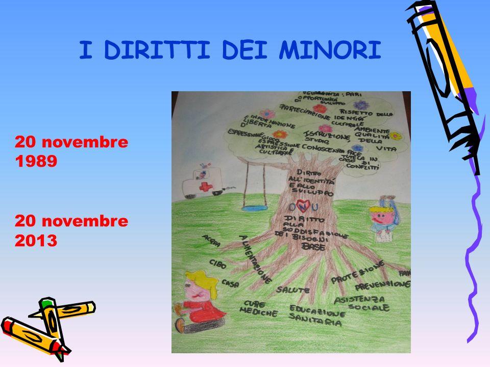 I DIRITTI DEI MINORI 20 novembre 1989 20 novembre 2013