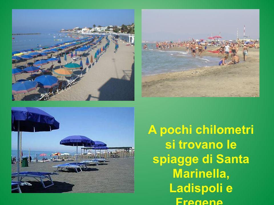 A pochi chilometri si trovano le spiagge di Santa Marinella, Ladispoli e Fregene.