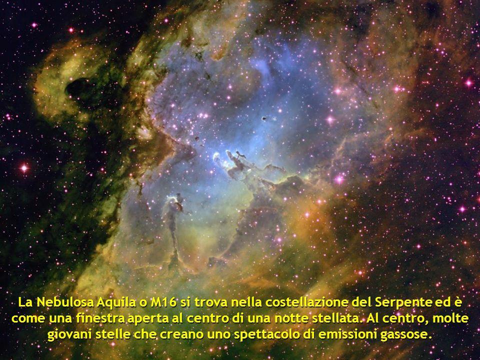 La Nebulosa Aquila o M16 si trova nella costellazione del Serpente ed è come una finestra aperta al centro di una notte stellata.