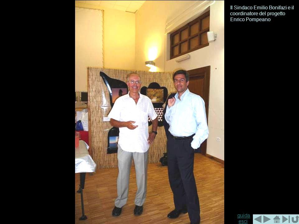 Il Sindaco Emilio Bonifazi e il coordinatore del progetto Enrico Pompeano