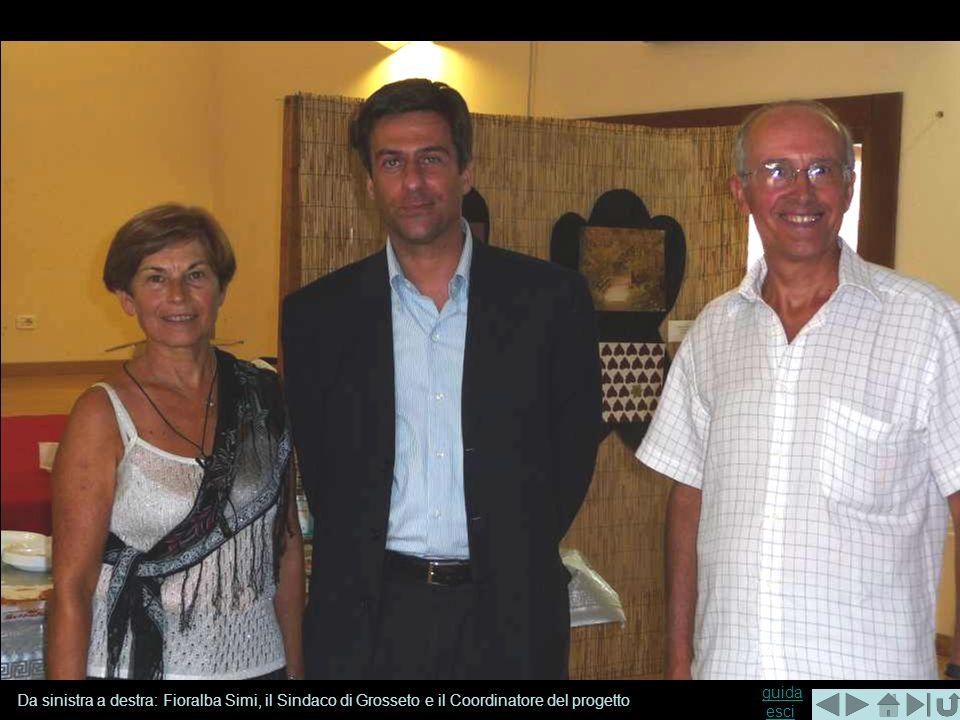 Da sinistra a destra: Fioralba Simi, il Sindaco di Grosseto e il Coordinatore del progetto