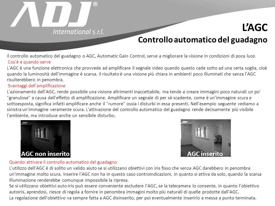 L'AGC Controllo automatico del guadagno AGC non inserito AGC inserito