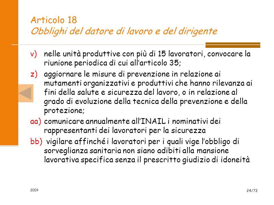 Articolo 18 Obblighi del datore di lavoro e del dirigente