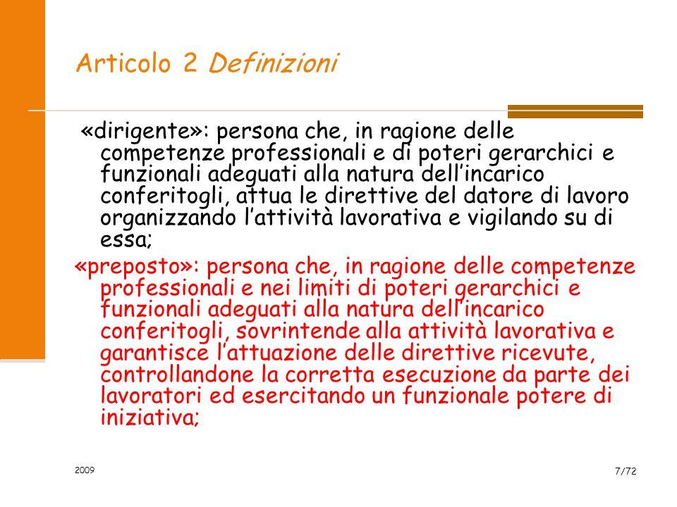 Articolo 2 Definizioni