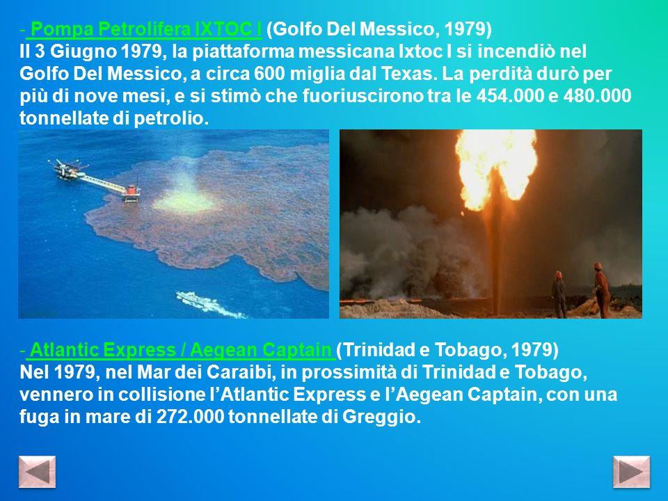 Pompa Petrolifera IXTOC I (Golfo Del Messico, 1979)