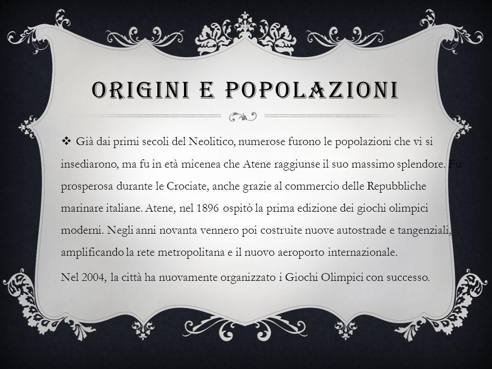 Origini e popolazioni