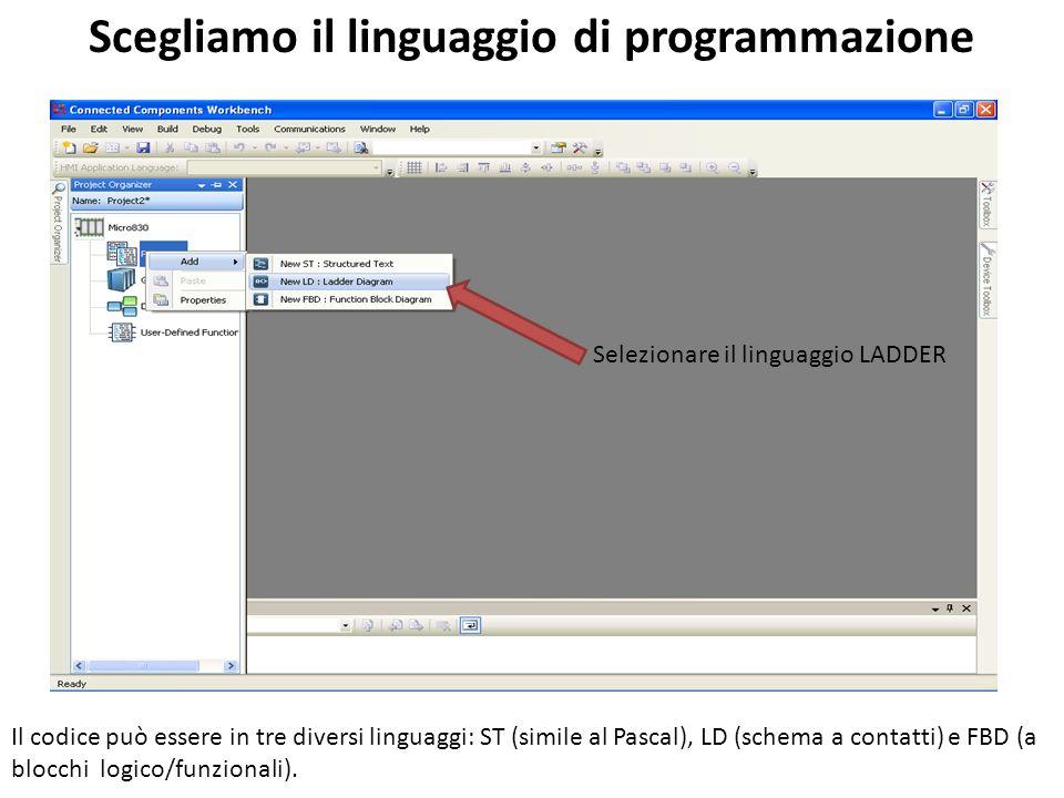 Scegliamo il linguaggio di programmazione