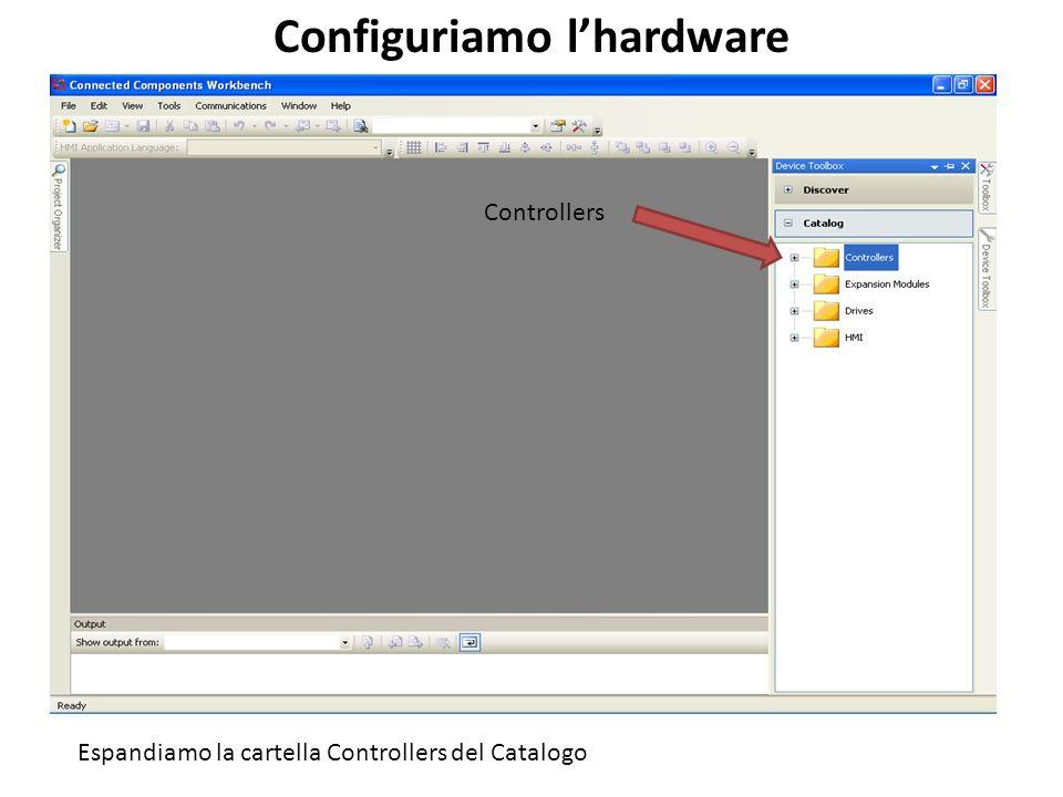 Configuriamo l'hardware
